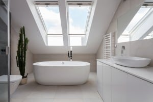 home interior bathroom skylight upstairs infill property