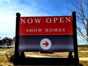Show Homes Sign New Calgary Homes for sale