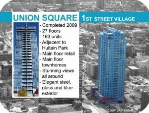 Union Square condos in Victoria Park Calgary