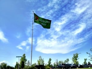 Auburn Bay Flag Calgary lake community