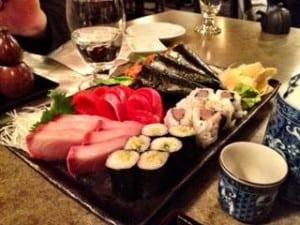 Sushi Bar Zipang Bridgeland Calgary Sushi Plate