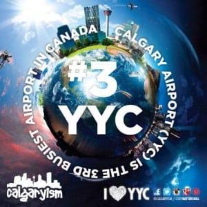 Infographic Canada's Third Busiest Airport Calgary International YYC