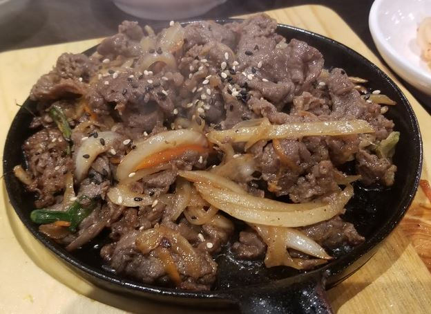 korean pan-friend beef dish buk chang dong soon korean restaurant macleod trail sw calgary