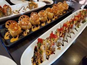sushi rolls kanpai on 8th calgary sushi bar