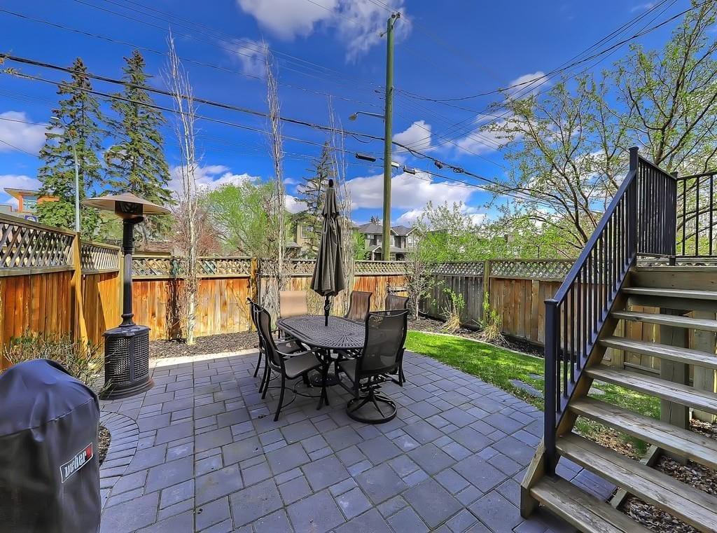 hillhurst home for sale backyard best calgary homes