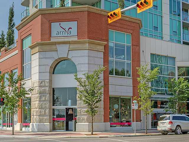 arriva condo building entrance Victoria Park Calgary