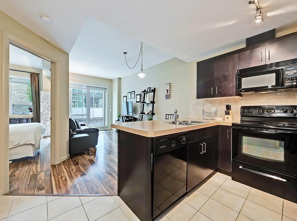 sasso condo for sale kitchen view 208 1410 1st street se