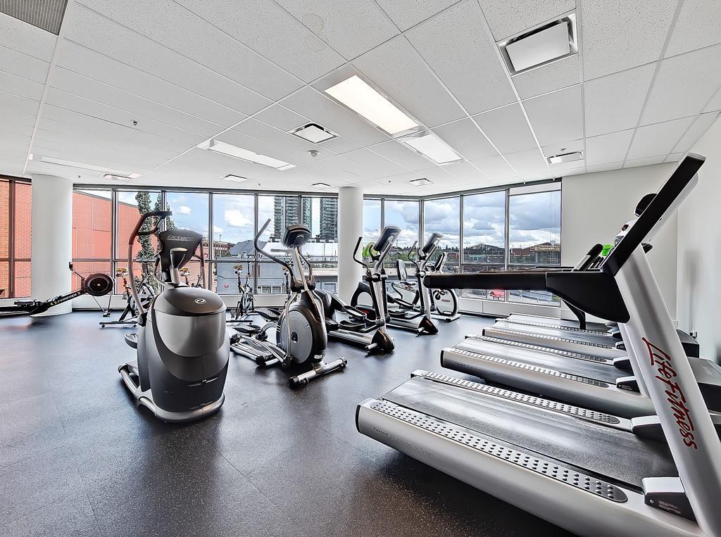 fitness room keynote one tower calgary