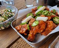 k town fried chicken spicy chili half order