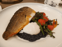 branzino fish risotto dish Buffo Calgary