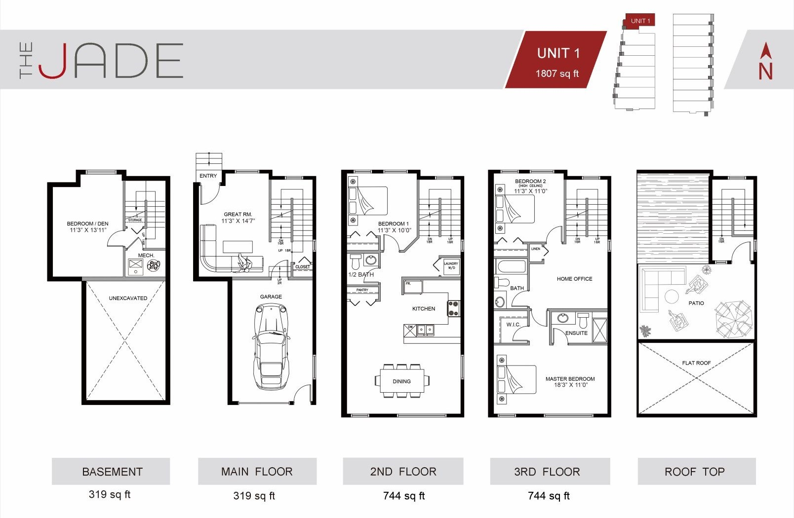 The Jade Townhome Winston Heights Unit #1 for sale