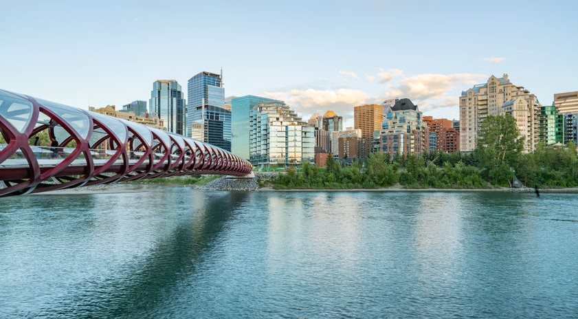peace bridge bow river attraction in Calgary