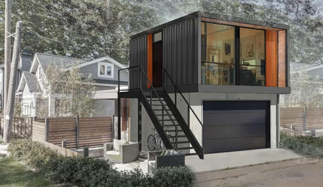 Calgary garage suite rendering