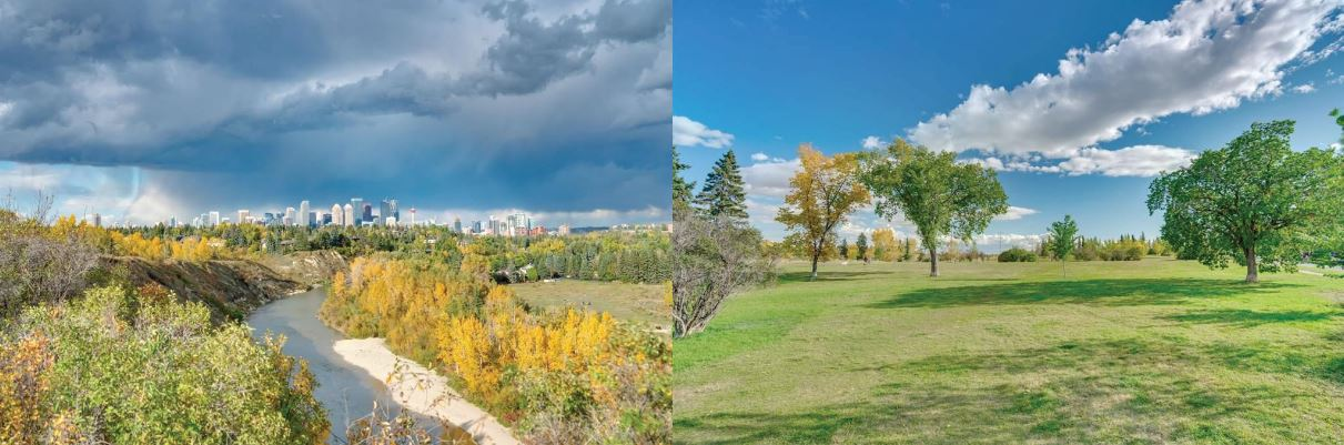 park views from luxury listing 4219 14a Street SW